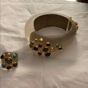 Alexis Bittar bracelet and ring